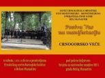 Pozivnica na Crnogorsko veče u Belom Manastiru