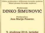 Najava predavanja o Dinku Šimunoviću