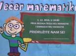 """Pozivnica na """"Večer matematike"""" u Belom Manastiru"""