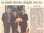 """Članak u """"Glasu Slavonije"""" o donaciji gradskih vijećnika"""