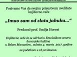Poziv na književno veče u Belom Manastiru