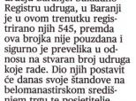 """Najava Sajma udruga u """"Glasu Slavonije"""""""