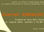 Poziv na koncert Kvarteta Giovacchino