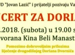 Poziv na humanitarni koncert za Doriana