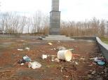 Smeće na Bolmanskom spomeniku
