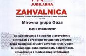 """""""Oaza"""" dobila zahvalnicu GDCK Osijek"""