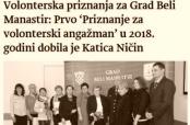 """Članak o BM-najvolonterima u """"Novostima"""""""