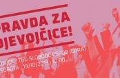 """Javni prosvjed """"Pravda za djevojčice"""" - Osijek"""