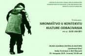 Poziv na predavanje Igora Jakobfija