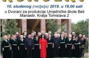 Poziv na koncert zborskog pjevanja