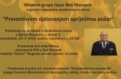Poziv na predavanje Josipa Molnara o sprečavanju požara
