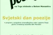 Poziv na javno čitanje poezije u Belom Manastiru
