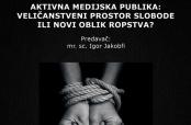 Najava predavanja o novim oblicima ropstva