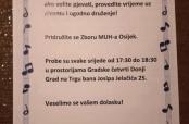 Pozivnica iz MUH-a Osijek