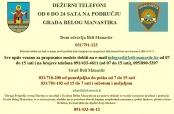 Dežurni telefoni na području Grada Belog Manastira