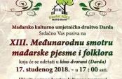 XIII. Međunarodna smotra mađarske pjesme i folklora