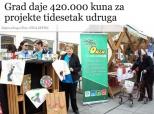 """""""Glas Slavonije"""" o BM-natječaju za udruge"""