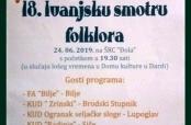 Poziv na 18. Ivanjsku smotru folklora u Dardi