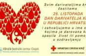 25. X. – Dan dobrovoljnih darivatelja krvi