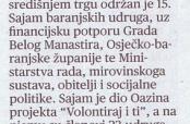 """Sajam udruga u """"Glasu Slavonije"""" i drugim medijima"""