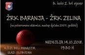 """Poziv na rukometnu utakmicu """"Baranja"""" – """"Zelina"""""""