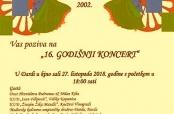 Najava Godišnjeg koncerta RKUD-a Darda