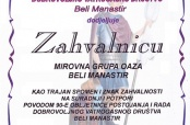 """Oaza"" dobila zahvalnicu DVD-a Beli Manastir"